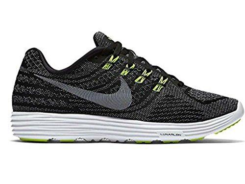 Nike Lunartempo 2 Cp, Zapatillas de Running Para Hombre Negro / Blanco / Verde (Black / White-Volt)