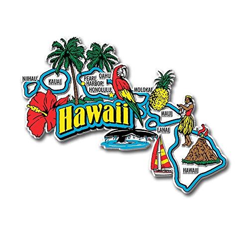 - Hawaii State Jumbo Map Magnet