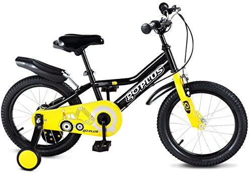 1014a102117 Goplus 16'' Kid's Bike Freestyle Outdoor Sports Bicycle with Training  Wheels Boys Girls Cycling