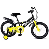 Goplus 16'' Kid's Bike Freestyle Outdoor Sports Bicycle with Training Wheels Boys Girls Cycling (Black)