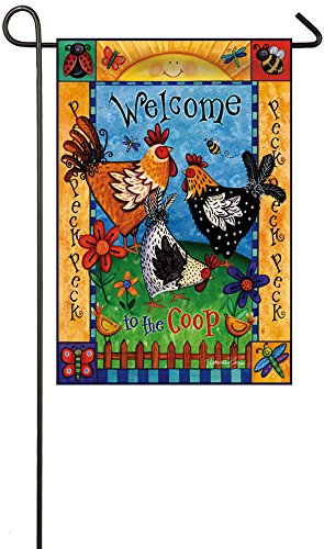 Evergreen Coop Welcome Suede Garden Flag, 12.5 x 18 inches (Chicken Coop Decorations compare prices)