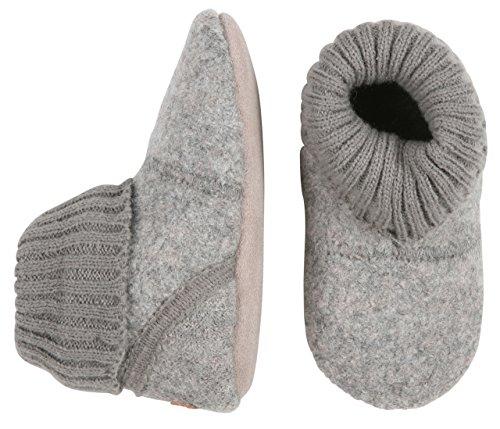 Melton Baby Wool High-Top Booties, Grey, (High Top Baby Booties)