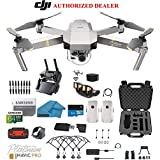 DJI Mavic Pro Platinum - Drone - Quadcopter - 4K Professional Camera Gimbal - Bundle - Kit - with 2 Batteries - with Must Have Accessories with HardCase