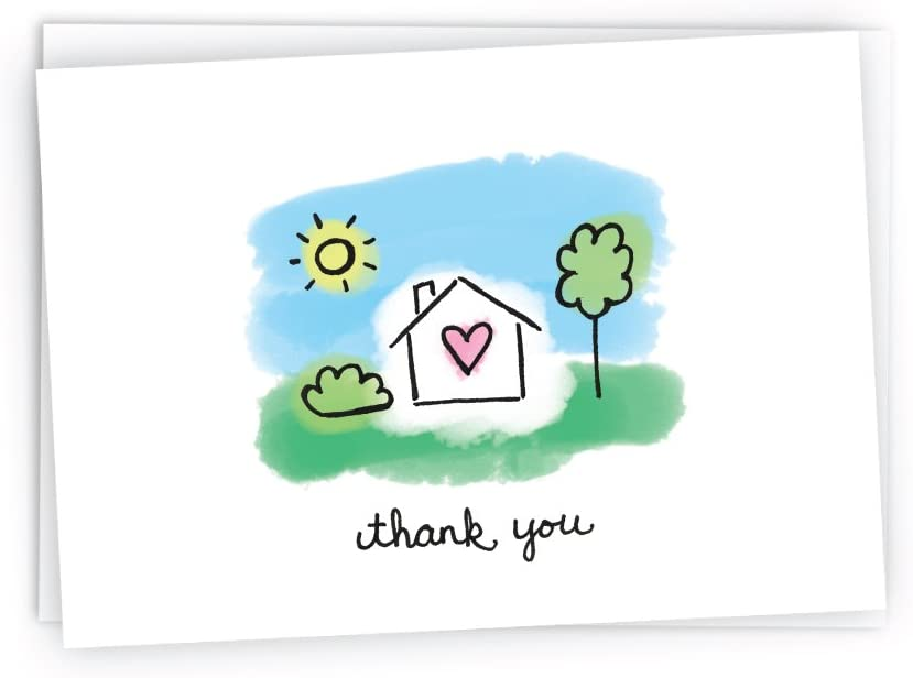 Home Sweet Home Thank You Cards - 24 Cards & Envelopes