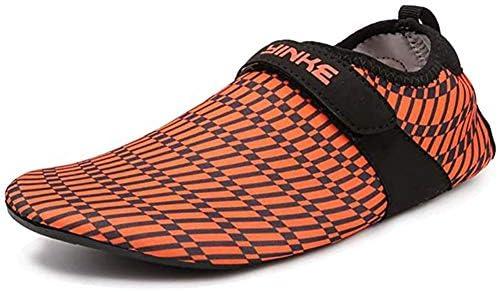 メンズウォーターシューズレディーススポーツビーチシューズ旅行アウトドア滑り止めスイミングシュノーケリングシューズウォータースポーツソックス,オレンジ色,41
