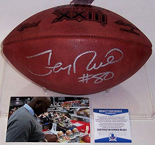- Jerry Rice Autographed Hand Signed Super Bowl XXIII Official Wilson NFL Leather Football - BAS Beckett