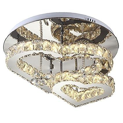 ZWL Lámparas de techo de cristal Led, sala de estar creativa ...