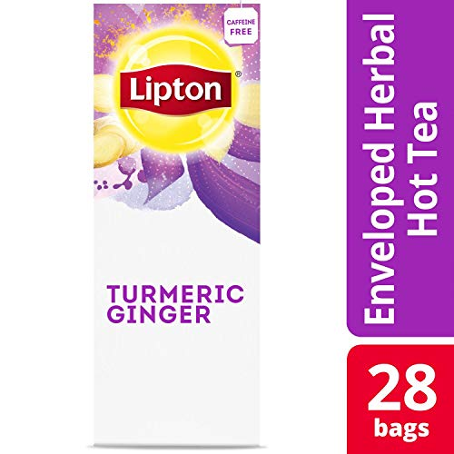 Lipton Hot Tea Bags Turmeric Ginger 28 count, Pack of 6