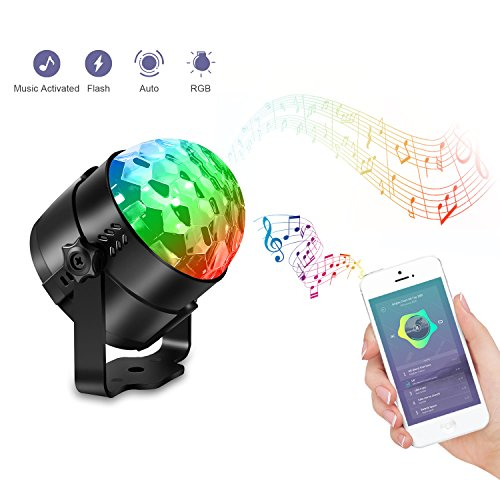 AOMEES Disco Light Party Lights Disco Ball LED Strobe Lights Sound Activated Dance Light Stage DJ Lighting for Home Kids Birthday Parties Festival Holiday Decorations Karaoke Bar Club (with USB) by AOMEES (Image #4)
