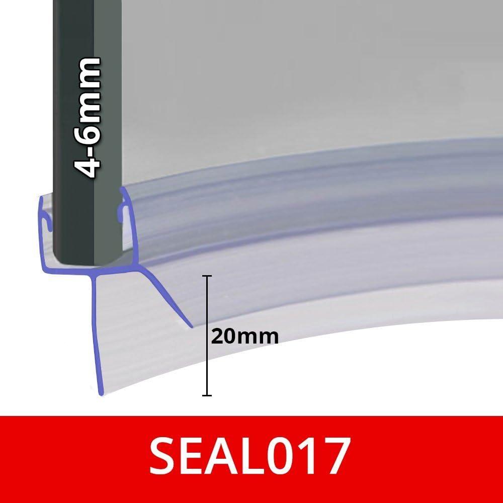 fessure sigilli di fino a 20/mm 850/mm Long Pre curvo per schermo doccia Seal Fits 4 5/o 6/mm vetro SEAL017