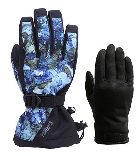 [해외]PONTAPES (ポンタペス) 스노우보드 글러브 맨 즈 레이디스 착탈식 이너 된 전체 20 색 S-XL 사이즈 의류 원단 사용 내 수압 10000mm PG-05 / PONTAPES Snowboard Gloves Men`s Women`s Removable Inner With All 20 Colors S-XL Size Wear Fabric Us...