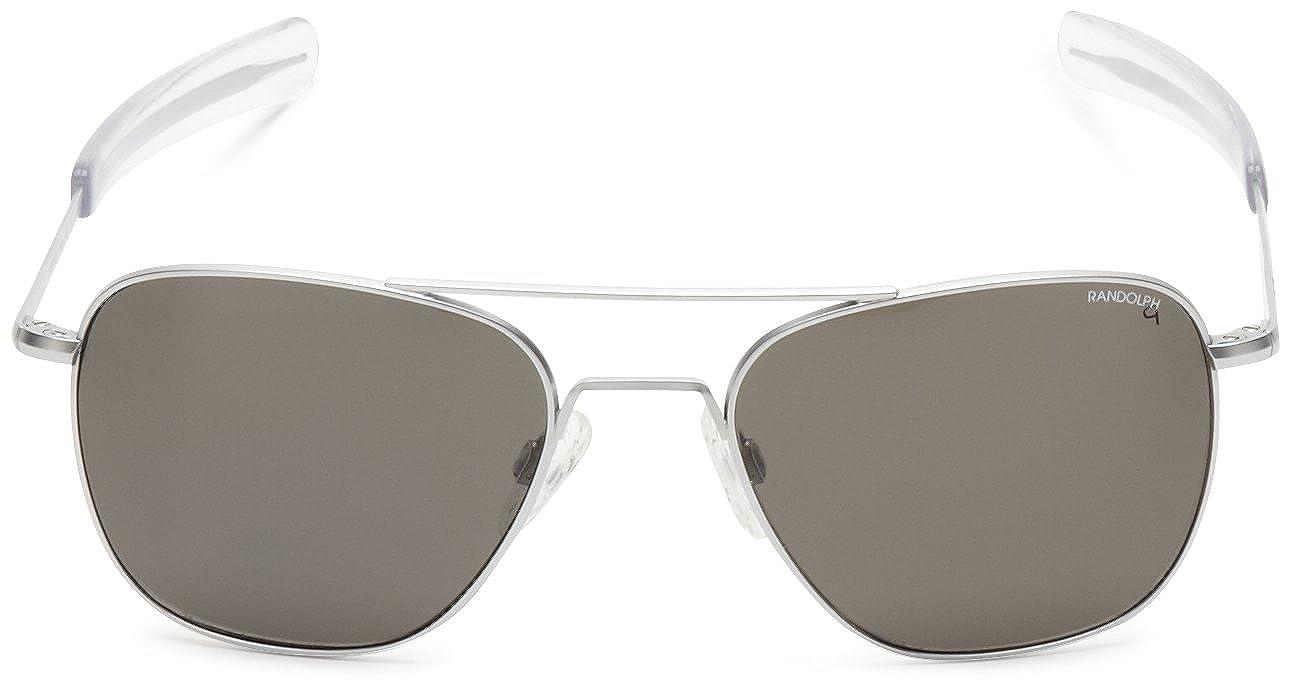 e90994cab67 Randolph Engineering Aviator Bayonet 55mm Matte Chrome Gray Polarized  Sunglasses  Amazon.co.uk  Clothing