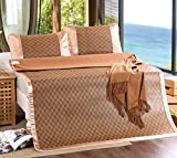 BEIRU Summer Mat Thick Rattan Seat 1.5 M 1.8 M Student Mat Two Sets Of Three Sets Of Folding ZXCV (Color : 1)