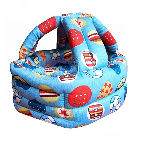 Baby Infant Toddler Adjustable Safety Protective Hat Helmet Head Cushion Bumper Bonnet (Ball)