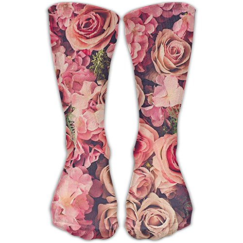 Pink Rose Club Women & Men Socks Soccer Sport Tube Stockings Length 30cm]()
