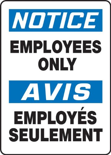 accuform-signs-fbmadc804vs-adhesive-vinyl-french-bilingual-sign-legend-notice-employees-only-avis-em