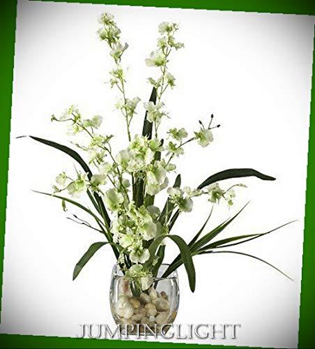 JumpingLight 1119-GR Dancing Lady Orchid Liquid Illusion Silk Flower Arrangeme Artificial Flowers Wedding Party Centerpieces Arrangements Bouquets - Orchid Illusion Liquid