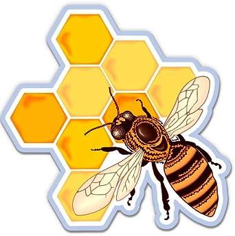 10013 Wall Tattoo Honey Comb Bees Bee Comb Honey Animal Animals Honey Sticker