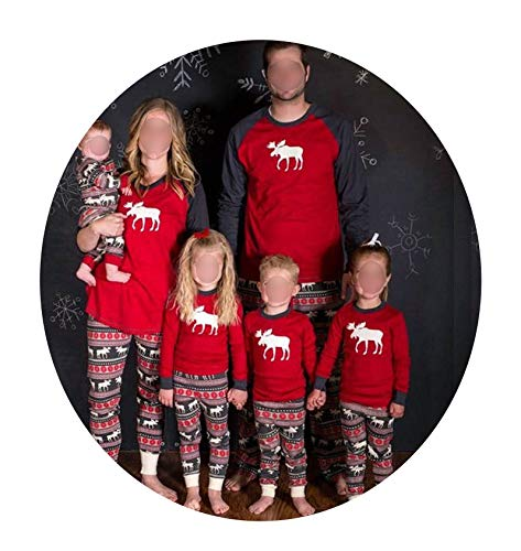 Christmas Pajamas Family Clothing Family Mother Daughter Father Son Clothes Family Clothing Sets Year Costume,A,Mom XXL ()