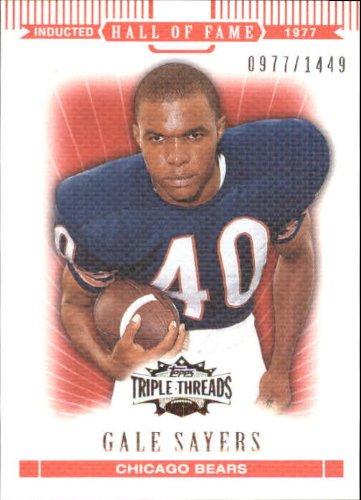 2007 Topps Triple Threads Football Card #97 Gale Sayers