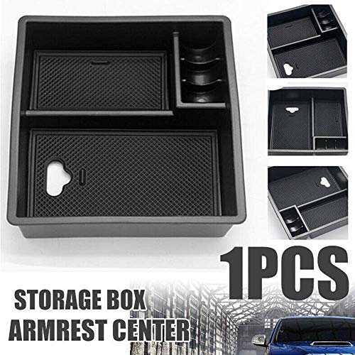 Anyutai Car Storage Box Multifunction,Auto Center Console Organizer Tray Armrest Container Fit for Toyota Hilux 2004-2014