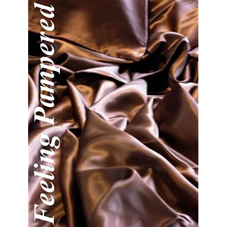 3 Pc 100 Mulberry Silk Charmeuse Sheet Set Twin Extra Long Chocolate Brown Half Of Retail