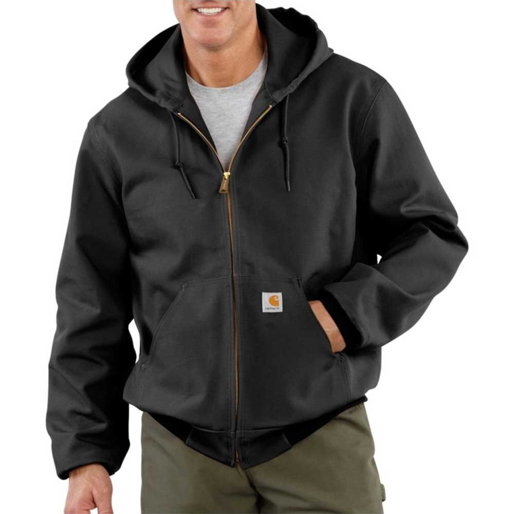 Carhartt Men's Big and Tall Thermal Lined Duck Active Jacket J131 (Regular and Big & Tall Sizes), Black, 6X-Large by Carhartt