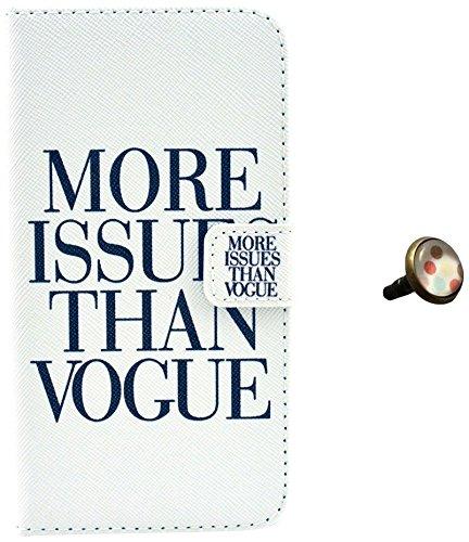 PowerQ [para Samsung Galaxy S3I9300–�?4] PU Funda Serie bolsa Modelo colorido con bonito hermoso patrón de impresión Impresión Dibujo monedero de la cartera de la cubierta móvil del bolso del teléfo blanco, negro