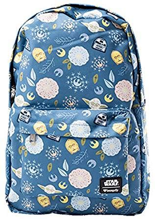 ee36f62ea94 Amazon.com  Loungefly Star Wars Bloom Character Print Backpack  Toys ...