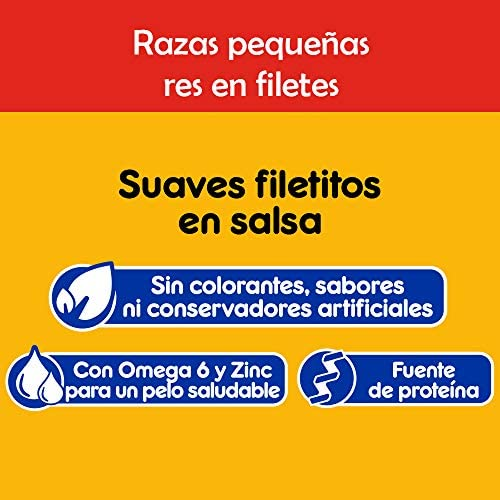 Pedigree Alimento Húmedo Razas Pequeñas Res en Filetes, paquete de 10 sobres 7