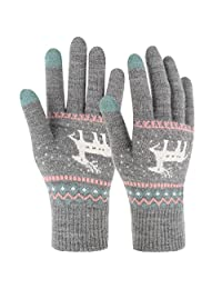 Novawo Women Knit Touch Screen Gloves for Iphone Ipad Tablet