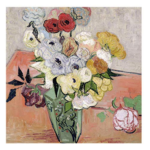 - Roses and Anemones, 1890 by Vincent van Gogh, 24 by 24-Inch Canvas Wall Art