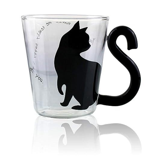 Taza de café o té de cristal con asa grande, apta para ...