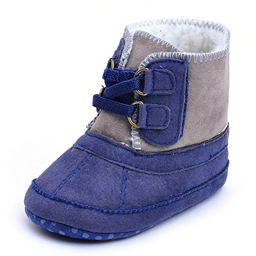 Images of Baby Boys' Plush Boots Navy US 1 Navy