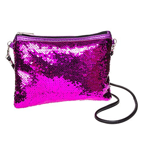 Banana à Paillettes Blue Main Clutch à Rose Sac Sequin dxWn1vcBSn