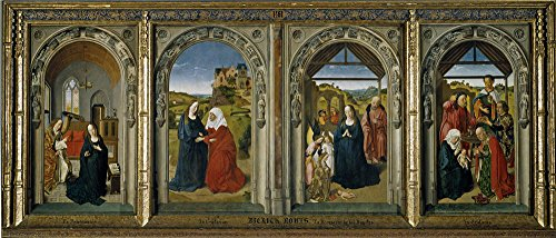 Costume Rendering Definition (Perfect Effect Canvas ,the High Definition Art Decorative Canvas Prints Of Oil Painting 'Bouts Dirk Triptych Of The Virgin's Life Ca. 1445 ', 8 X 19 Inch / 20 X 48 Cm Is Best For Game Room Decoration And Home Gallery Art And Gifts)