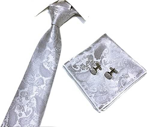 Xiessi Men's Tie Necktie Wedding Paisley JACQUARD WOVEN Party Classic Microfiber