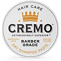 Cremo Barber Grade Dry Shampoo Paste, Refreshes Hair Without Water, 4 Oz