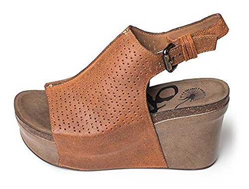 OTBT Women's Jaunt Wedge Shoe (6.5, New Tan)