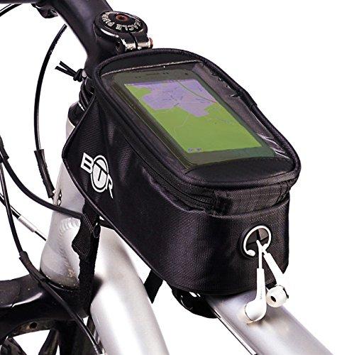 BTR Bicycle Bike Bag Pannier with Mobile Phone Pocket. 2nd Generation. Medium