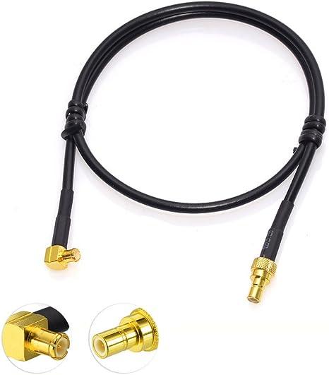 Bingfu DAB Antenna Cavo MCX Maschio a SMB Femmina Adattatore con prolunga cavo RG174 da 40 cm per DAB Radio Pioneer X8700 X580 JVC Blaupunkt Pure Kenwood Alpine