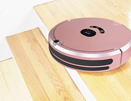 HUIBOT S01 Robotic Vacuum Mop Sweeper Cleaner With Virtual Wall Anti-Drop Self Charging for Pet Hair Allergens for Hard Wood Floor and Thin Carpet (Rose) by HUIBOT (Image #4)