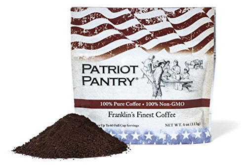 Patriot Pantry Franklin's Finest Survival Coffee – 60 Servings