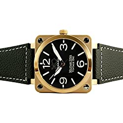 Brand New XO Retro Mens Watch P-51 MUSTANG Military DNA Square Collection Rose Gold Case Black Dial 04S