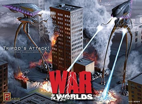 Pegasus 9006 War of the Worlds 'Tripods Attack' 1/350 Scale Plastic Model Kit from Pegasus Hobbies