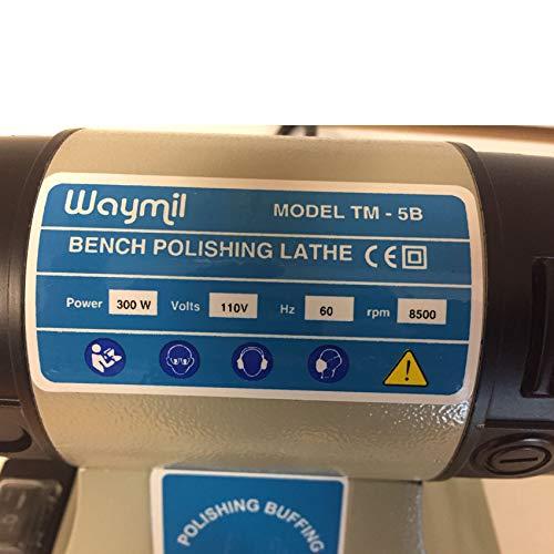 Jewelry Polishing Motot Compact Buffer Machine Lathe Benchtop Variable Speed by Waymil (Image #4)