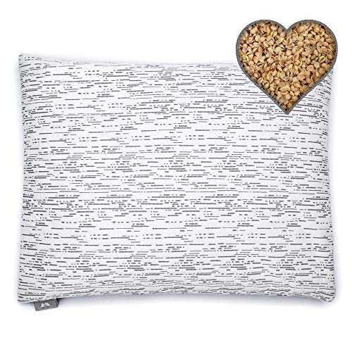 PineTales, Organic Millet Hulls Pillow with Skin Friendly Waterproof Bamboo/Cotton Pillowcase, Handmade in USA, Standard Size (20