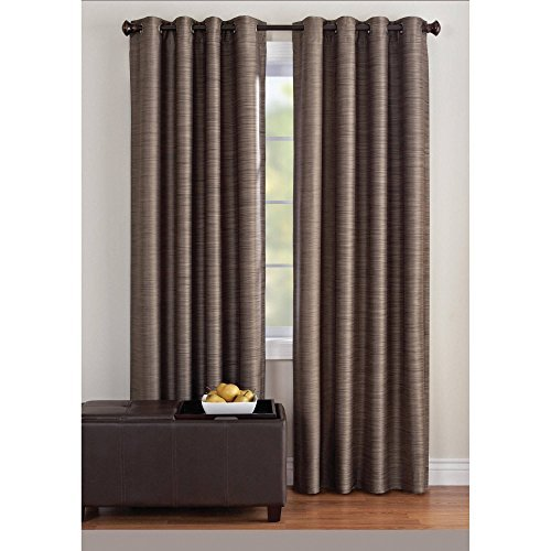 dens Strie Stripe Window Panel, 50x84, Brown Clay (Strie Stripe)