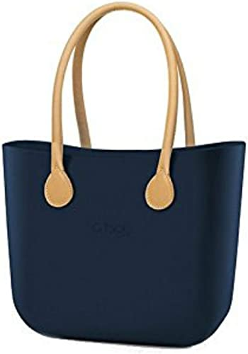 Borse I Bag.Borsa O Bag Grande Blu Manici Eco Pelle Beige E Sacca Amazon It Scarpe E Borse