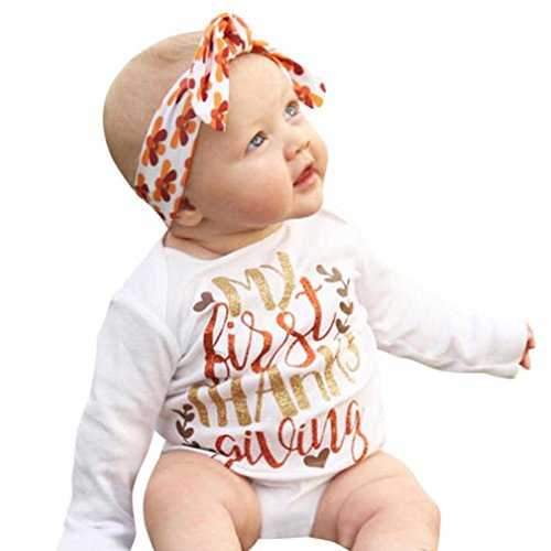 Baby Girls Autumn Outfits Long Sleeve Tops Floral Pants Clothes Set (White+Grey) - 6